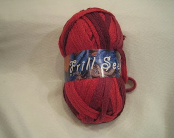 Sale! RED Ruffle scarf yarn for knitting Frill Seeker by Estelle 704 REDS