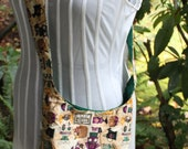green garden saddlebag purse