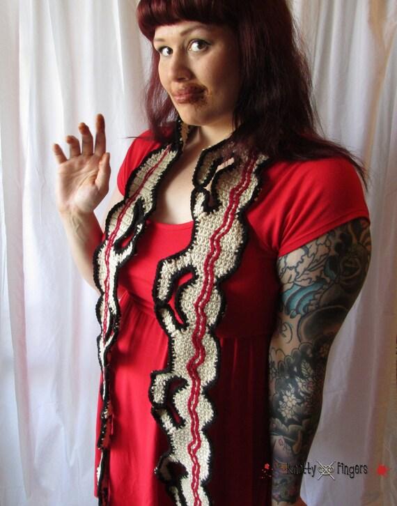 The Original Crochet Human Centipede Scarf - Made to Order - 7' length
