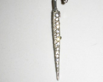 Vintage Rhinestone Umbrella Pin