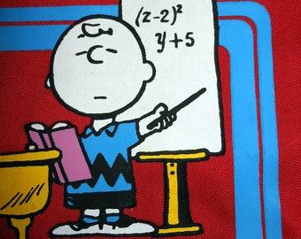 NOS Snoopy Tote Peanuts School Bag Charlie Brown 80s Charles Schulz
