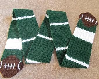 Football Scarf, Crochet