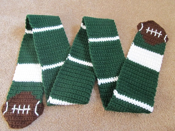 Knitting Pattern For Football Scarf : Football Scarf Crochet