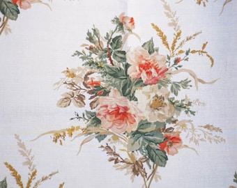 Designer Fabric, Silk-Screened, Textile, Wild Rose, Quilter, Fat Quarter, Remnant