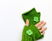 Hand knit with a soft  yarn / Winter trends . Valentines days . Shamrock / EtsyXO .  St . Patricks day .  Winter fashion .