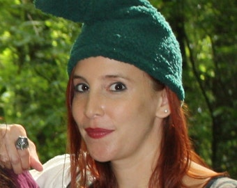 Gnome Hat - Adult size - Ready to ship - Hunter Green