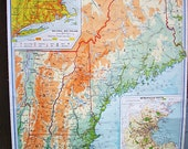 New England Wall Map