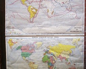 The World in 1914. Discoveries and Colonizations in 1763. - Vintage Wall Map