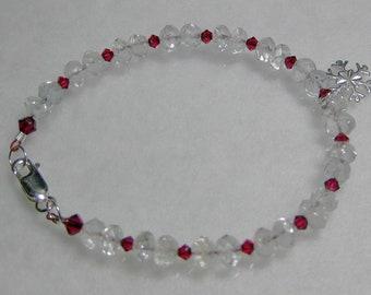 Topaz, Swarovski crystal and sterling silver bracelet: charity donation