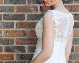 SALE! Rockabilly Betty Boop Wedding Button Alternative Bouquet Polka Dots, Fifties 50s Bride