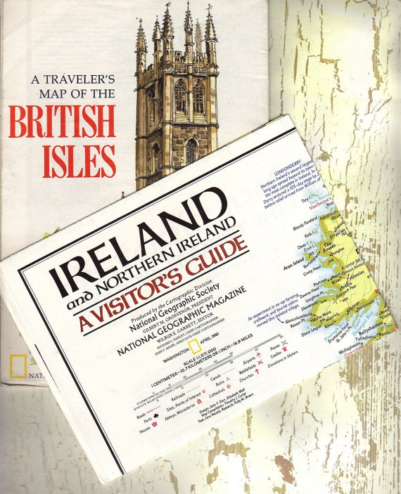 VINTAGE MAP SET - 1974 and 1981 -  Maps of the British Isles and Ireland