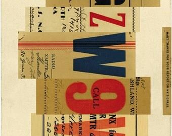 Signals: no. 1, limited edition print 420 x 594mm
