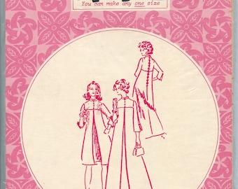 1970s Patterns Pacifica 3015 Muu Muu Dress Vintage Sewing Pattern Size 8 -12 - 16 UNCUT