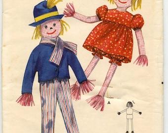 1950s Vintage Sewing Pattern Butterick 4236 Scarecrow Dolls UNCUT