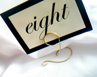 Wedding Table Number Holders, Gold Sign Holders, 8pcs