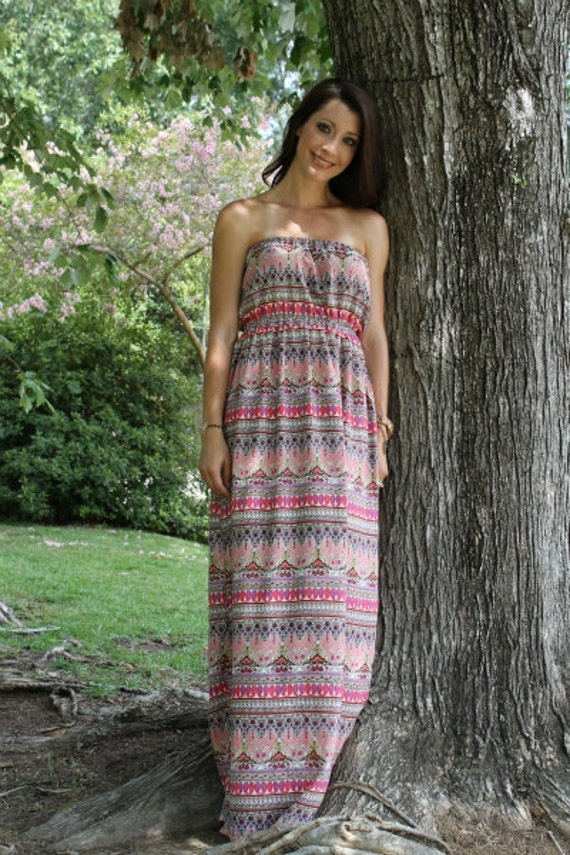 Maxi Dress for women pdf sewing pattern instant download by