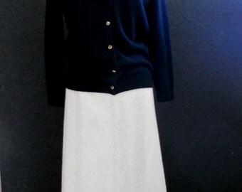 70s Maxi Skirt, Winter Skirt, Mohair Skirt w/Chevron Stripe & Diamond Design by Herman Geist