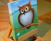 Whooo Me Owl Original Oil Painting
