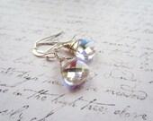 Swarovski Crystal Earrings, Swarovski Drop Earrings, Northern Lights Jewelry, Crystal Earrings, Made in Sweden, Swedish Jewelry Design