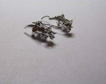 Gorgeous Geekery Triceratops Earrings - Science Jewelry, Dinosaur Earrings, Paleo, Zoology, Geology, Paleontology - Great Gift!