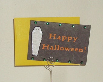 Mummy Halloween Card - Halloween Card From Mom - Mummy Card - Kid's Halloween Card - Halloween Card - Mummy - Halloween