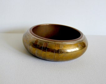 Vintage Chunky Brass and Copper Bangle - at KonniesPlace