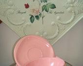 Pink Melmac-Boontonware-3 Piece-Berry Bowl-Cereal Bowl-Saucer.  Vintage Melamine-Retro-Mid-Century-1950-1960.