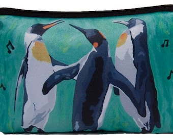 Penguin Cosmetic Bag by Salvador Kitti - On Sale -Support Wildife Conservation, Read How