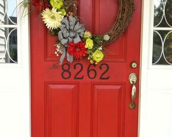 Vinyl Door House Number Decal