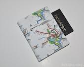 WMATA Metro Map Passport Cover - Subway Map Midori Passport Case - Vegan Passport Holder - Gift for Traveler - Gifts Under 10