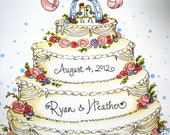 Personalized Wedding Card - Anniversary Card - Take the Cake