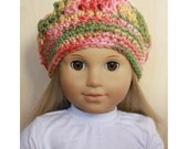 "18"" Doll Clothes - Fall Colors Slouch Beanie Hat for American Girl"