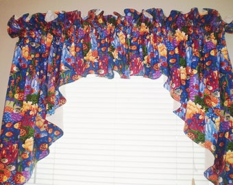 Under the Sea Swag/Valence Curtains with lining