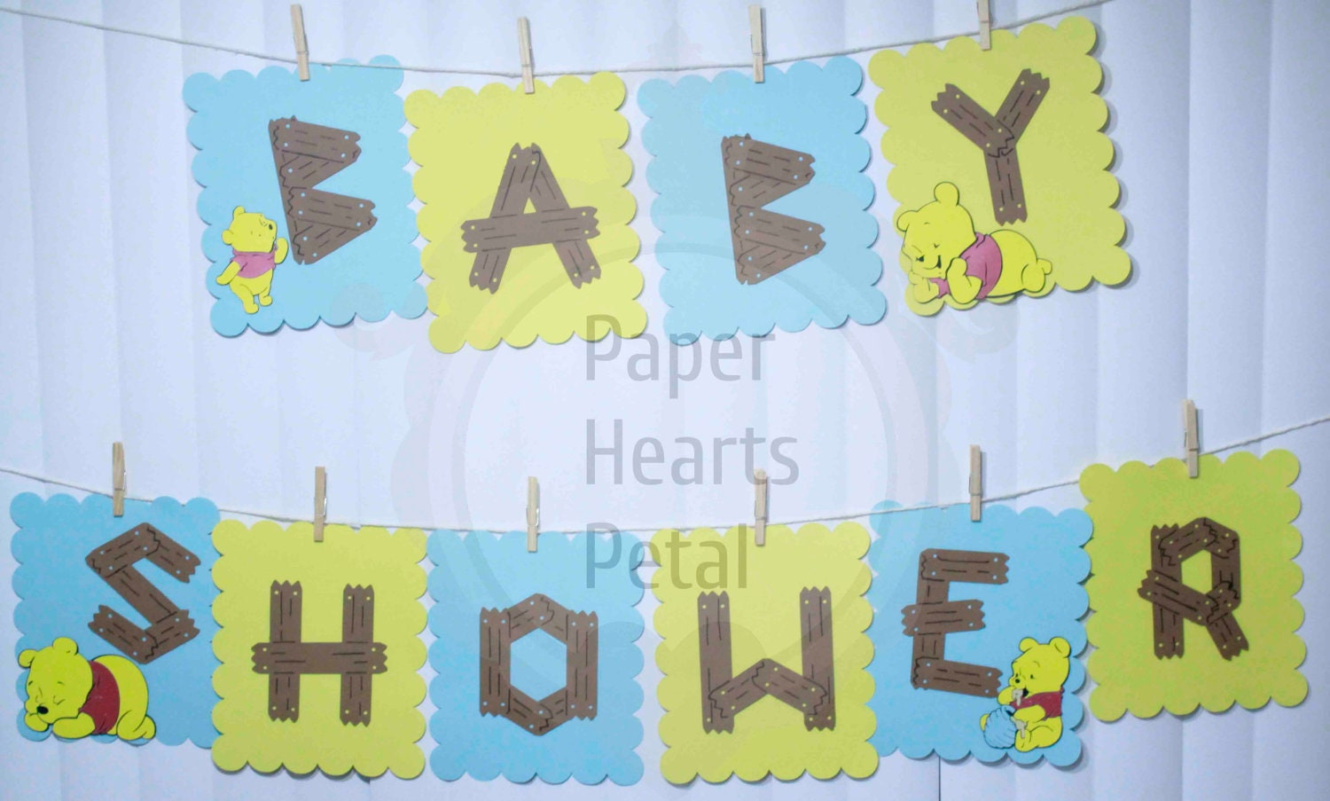 Popular items for pooh birthday banner on Etsy : Baby Shower Themes Winnie The Pooh For Kids