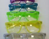 Rave Glow-in-the-dark light show glasses