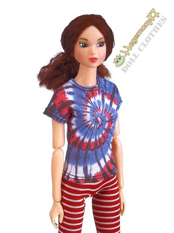 Tie dye T shirt for Pullip Momoko Barbie 27 cm Obitsu size dolls