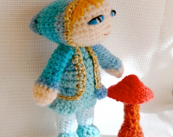 Amigurumi crochet doll IRINA, toys, plush doll,gift,wool toy, children toy