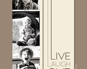 Live Laugh Love, Wall Art Poster, Custom Photo Keepsake Print for families, weddings & couples, home decor
