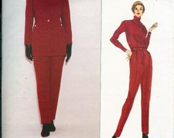 Vintage UNCUT Vogue Paris Original State of Claude Montana Pattern 1252 Misses Jacket & Pants 8-12