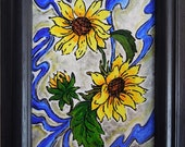 Sunflower painting is bright and cheery way to savor the last lingering days of summer.
