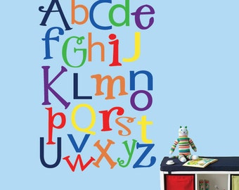 Alphabet Wall Decal LARGE Reusable Wall Decal - 326LSWA