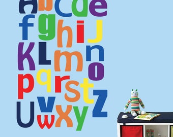 Alphabet Decal, Alphabet Fabric Decal - 327SWA