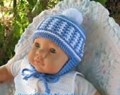 Knitting Pattern 017 - Knit Pom-Pom Ear Flap Hat - Baby Boy - Baby Girl - Toddler - Child - Unisex Adult Hat - Ear Flap - Winter Hat Pom-Pom