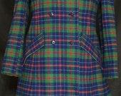 Vintage 1960s Pendleton Plaid 100% Virgin Wool Jacket Coat and Skirt Suit Set *Reserved for smorganas*