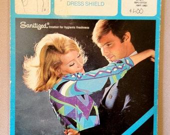 Vintage 1960s 60s Kleinert's Dress Shields shown on Emilio Pucci Dress NOS New old stock Deadstock