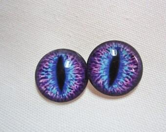 Glass eyes dragon eyes steampunk jewelry and pendant making fantasy eyes