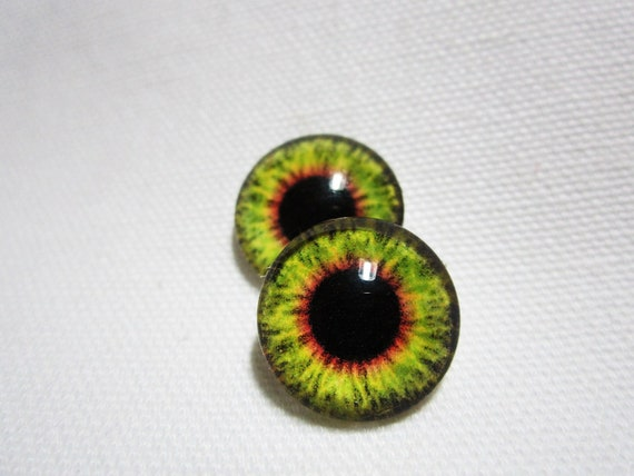 Glass eyes for animal sculptures and polymer clay