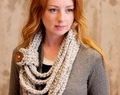 Octavia - Crochet PATTERN ONLY - Wrapped Neckwarmer