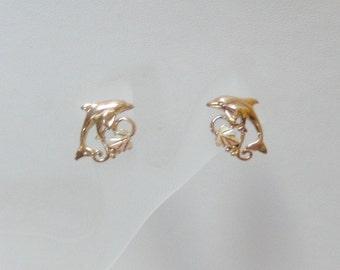 Whitaker's Black Hills Gold Dolphin Earrings