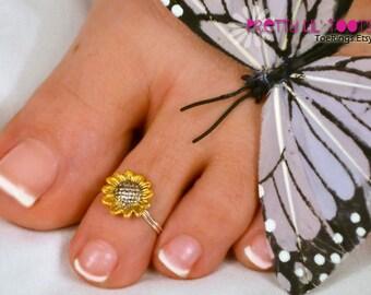 Sunflower Toe Ring - Buy 3 get 1 FREE